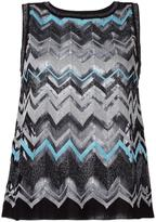 M Missoni zig zag tank top - women - Cotton/Polyamide/Metallic Fibre - 38