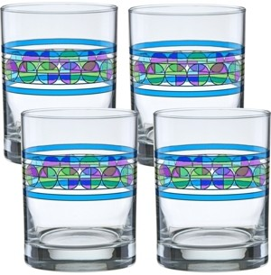 Culver Frank Lloyd Wright Saguaro Flower Double Old Fashioned Glass - Set of 4