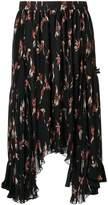 Isabel Marant floral print pleated midi skirt
