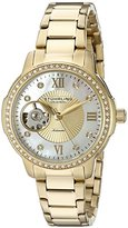 Stuhrling Original Perle Women's Automatic Watch with Mother Of Pearl Dial Analogue Display and Gold Stainless Steel Bracelet 491.04