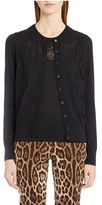 Dolce & Gabbana Women's Lace Inset Cashmere Blend Cardigan