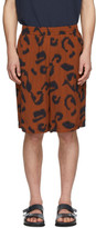 Stella McCartney Brown Viscose Printed Shorts