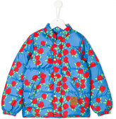 Mini Rodini rose print padded jacket