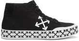 Off-White Black Vulcanised Arrows Mid-top Sneakers