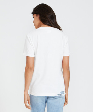 The People Vs. Bolt Eagle Boyfriend Tee White