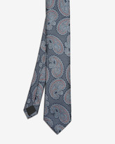 Ted Baker Textured Paisley Silk Tie Blue
