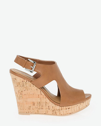 Le Château Faux Leather Cutout Sandal