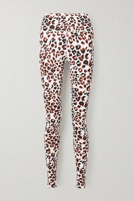 Varley Duncan Animal-print Stretch Leggings - White