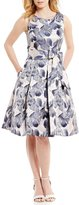 Jessica Howard Belted Floral-Print Party Dress