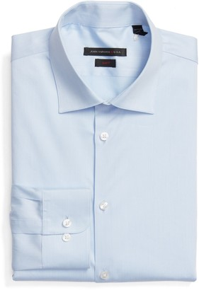 John Varvatos Extra Trim Fit Stripe Stretch Dress Shirt
