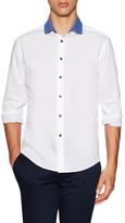 Vince Camuto Contrast Spread Collar Sportshirt