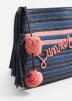 MANGO Straw cosmetic bag