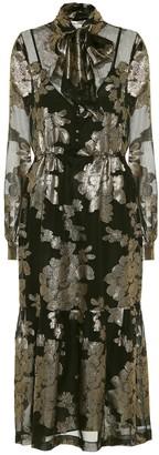 Saint Laurent Floral silk-blend brocade dress