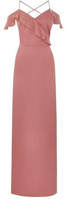 Oasis Ruffle satin maxi dress