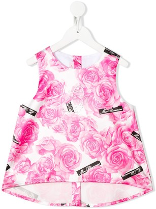 Miss Blumarine Floral Print Vest