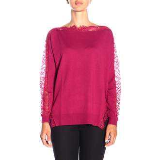 Twin-Set TWIN SET Sweater Long-sleeved Shirt With Lace Finishings