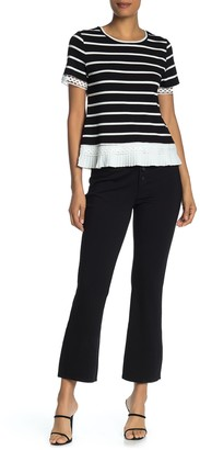 Laundry by Shelli Segal Button Fly Cropped Flare Pants