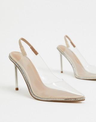 Steve Madden Savlamar high court shoes in clear