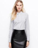 Ann Taylor Petite Stripe Perfect Shirt