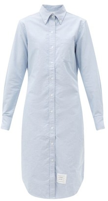 Thom Browne Button-down Oxford Cotton Shirt Dress - Blue