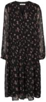 Culture Black Alicia Floral Midi Dress - XS