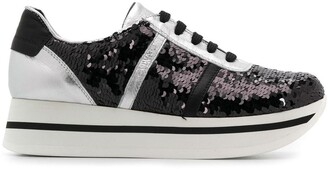 Tosca Sequinned Platform Sneakers