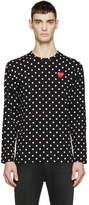 Comme des Garcons Black Polka Dot Heart Patch T-Shirt