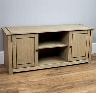 Home Discount Panama Flat Screen TV Unit 2 Door 1 Shelf, Natural Oak Entertainment Furniture