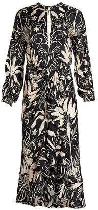 Johanna Ortiz Honrando Floral Midi Dress