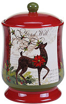 Certified International Winter Garden Reindeer Biscotti Jar