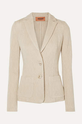 Missoni Crochet-knit Wool-blend Blazer - Beige
