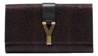 Saint Laurent Chyc Brown Leather Clutch bags