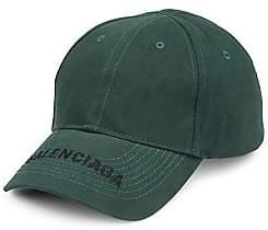 Balenciaga Men's Logo Cotton Visor Cap
