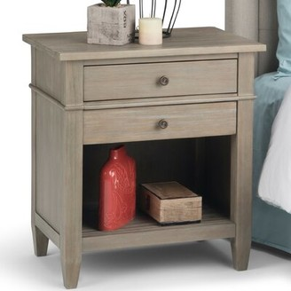 Three Posts Gateshead 2 Drawer Nightstand Color: Rustic Natural Aged Brown