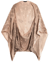 Alexander McQueen Butterfly lace circle-cape