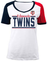 5th & Ocean Women's Minnesota Twins Cb Sleeve T-Shirt