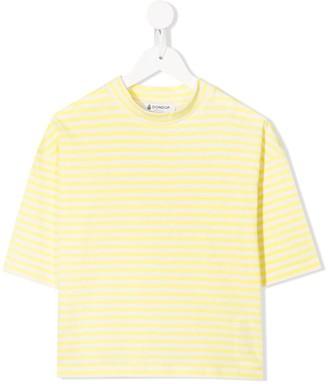 Dondup Kids striped print T-shirt
