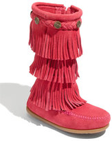 Minnetonka Girl's Three-Layer Fringe Boot