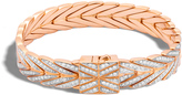 John Hardy Women's Modern Chain 11MM Bracelet in 18K Rose Gold with Diamonds