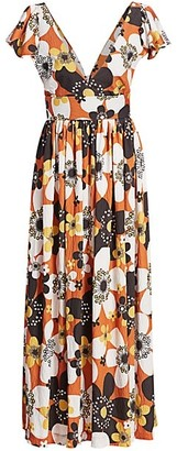 Dodo Bar Or Jenny Long Floral Dress