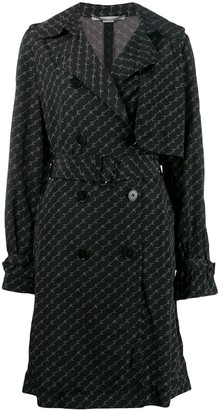 Stella McCartney logo print trench coat