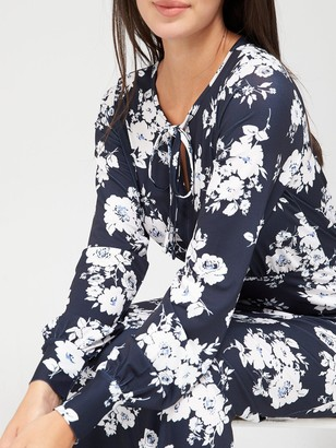 Very Keyhole Midaxi Dress - Navy Floral