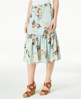 Maison Jules Floral-Print Tiered Midi Skirt, Created for Macy's