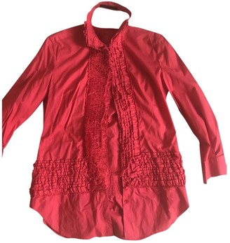 Alexander McQueen Red Cotton Top for Women Vintage