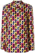 Gucci GG motif print shirt
