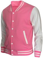 BCPOLO Varsity Jacket Baseball Cotton Jacket Letterman jacket 8 Colors- M