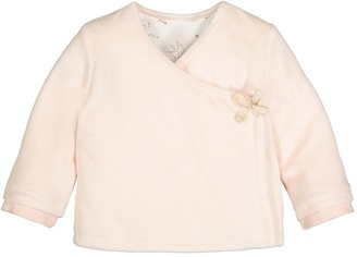 La Redoute Collections Velour Wrapover Cardigan, Birth-2 Years