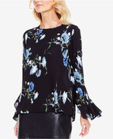 Vince Camuto Printed Flare-Sleeve Top