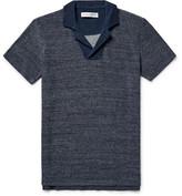 Orlebar Brown Cedric Slim-Fit Mélange Loopback Cotton Polo Shirt