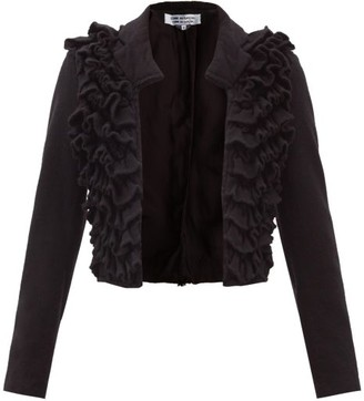 Comme des Garçons Comme des Garçons Ruffled Wool Jacket - Black